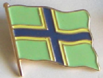 Gloucestershire County Flag Enamel Pin Badge
